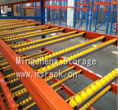 Carton flow rack roller rack